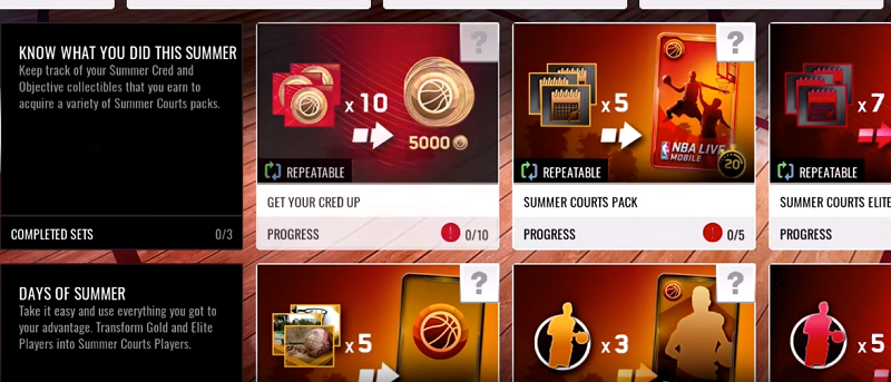 NBA Live Mobile Summer Courts - elites